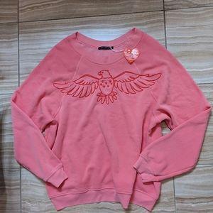 Wildfox salmon coral eagle soft sweater